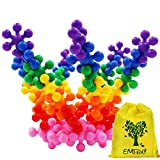 EMIDO 120 Pieces Building Bricks,Interlocking Plastic Stacking Blocks,Educational Games,3D Puzzles DIY Kids Toys, Safe Material for Kids,A Great Toy for Both Boys and Girls!