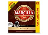 Marcilla Café Espresso Ristretto - Intensidad 12 - 20 Cápsulas de aluminio compatibles con cafeteras Nespresso* - 20 Unidades