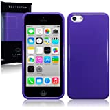 Apple iPhone 5C TPU Gel Skin Case / Cover (Solid Purple)