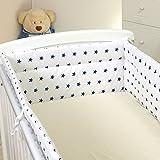 Nestchen mit Kopfschutz für 120x60 Bett 350x30cm M30 Bettumrandung Kantenschutz