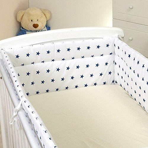 Nestchen mit Kopfschutz für 140x70 Bett 420x30cm M30 Bettumrandung Kantenschutz Baby Bett Schutz