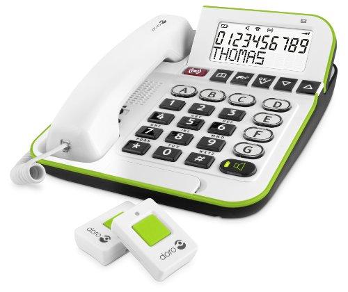 Doro Secure 350 Schnurgebundenes Großtastentelefon mit Notruf-Alarmgeber weiß - 3
