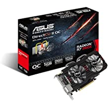 Asus AMD Radeon R7 260X Grafikkarte (PCI-e, 1GB GDDR5 Speicher, DVI, HDMI, DisplayPort, 1 GPU)