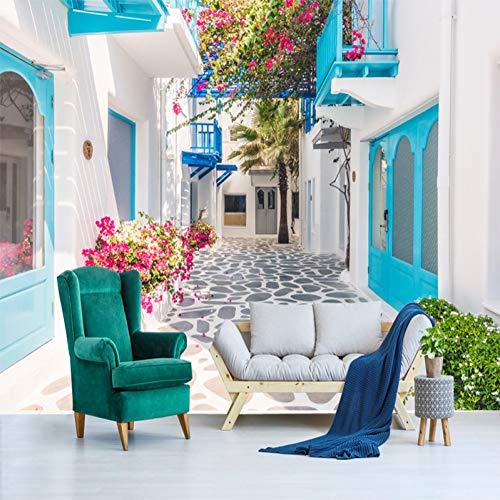 Preisvergleich Produktbild XKWBH Custom 3D Fototapete Griechenland Santorini Love Sea Fototapete Wohnzimmer Schlafzimmer Papier Peint Fototapete 3D Fototapete