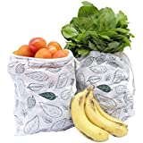 [Sponsored]Clean Planet Eco Veggie (Set Of 2 Regular Leafy Printed) Eco-Friendly Produce Storage Bag For Fridge & Kitchen To Keep Fruits And Veggies Fresh And Toxin Free. Handmade, Reusable, Washable, Non-Toxic, Multipurpose Grocery Bags.