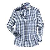 MADDOX XXL Trachtenhemd Karo blau-weiß, XL Größe:6XL