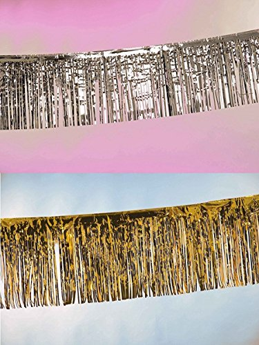 Folat Creative Party-Banner mit Fransen, 6 m, goldfarben