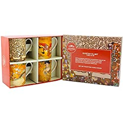 Leonardo Collection Lot de 4 Tasses Gustav Klimt
