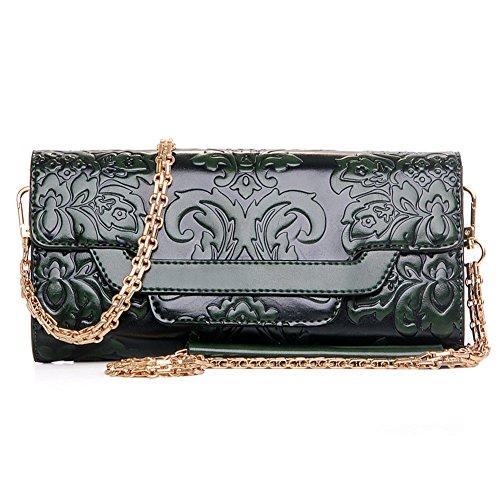 stile cinese della frizione in rilievo/La signora Shoulder Messenger pacchetto/borsa catena/Semplice pacchetto Retro banchetto-C A
