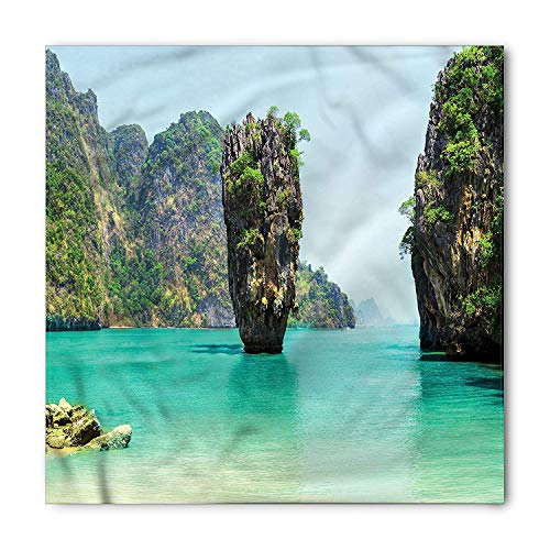 MSGDF Island Bandana, Beach Cruising Journey, Unisex Bandana Head and Neck Tie Neckerchief Headdress Silk-Like 100% Polyester Tan Ankle Wrap