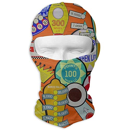Xukmefat Flipper Orange Vollgesichtsmaske Balaclava Wind Resistant Face Mask