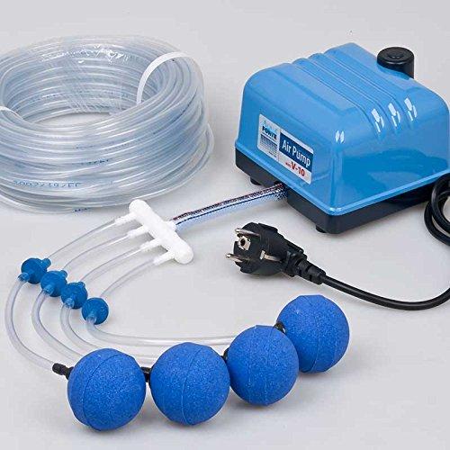AquaForte V-Serie Belüfter Set, Teich und Aquarium Luftpumpen komplettset (V-10 Set)