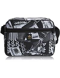 adidas Originals Airliner-Tasche mit Fotodruck, schwarz & wei�.