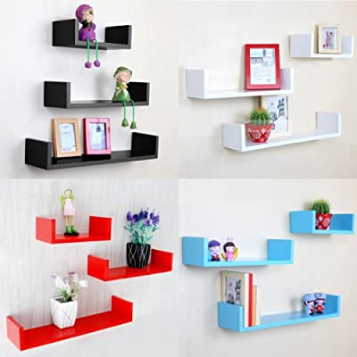 Outdoortips Set of 3 Floating Children Wall Storage Shelves