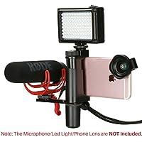 Ulanzi Telefon Video Stabilizer Handheld Smartphone Video Shooting Ausrüstung für LED Video Light Shotgun Mikrofon Hot Shoe Filmen für Youtube Live Streaming Vlogging Videomachen