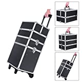 Songmics® Malette Maquillage trolley 4-in-1 Aluminium boîte à maquillage Beauty Case professionnel Noir JHZ01B