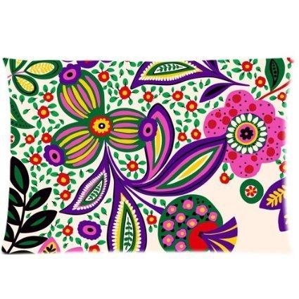 vera-bradley-flower-print-pattern-custom-cotton-polyester-soft-rectangle-pillow-case-fundas-para-alm