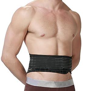 Magnetischer Wärmegurt für den unteren Rücken – selbsterwärmende Lendenstütze – Turmalin + Magnete – Schmerzlinderung – Neotech Care