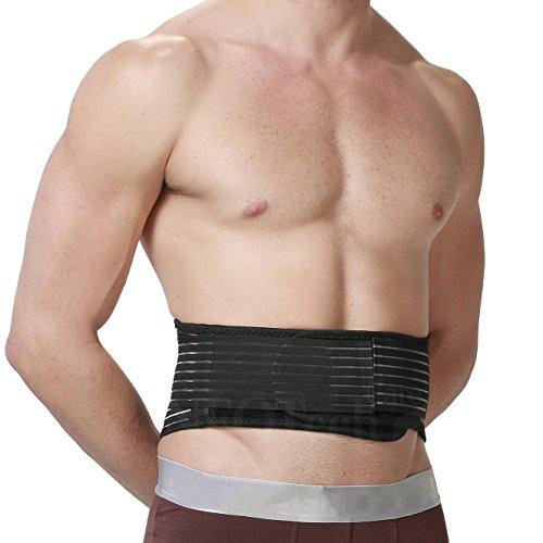 Magnetischer Wärmegurt für den unteren Rücken - selbsterwärmende Lendenstütze - Turmalin + Magnete - Schmerzlinderung - Neotech Care - Schwarz - L