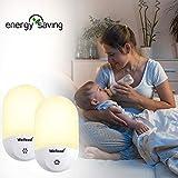Wellead Lichtsensor Nachtlicht automatisches An/Aus-Licht Energiesparendes Baby Nachtlicht Nacht Lampe Dimmbare Ellipse