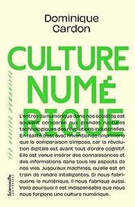Culture numérique par Dominique Cardon
