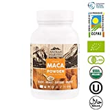 Maca andina BIO Premium mejor calidad certificada 100 cápsulas VEGANAS 500 mg (ecológica/orgánica, fair trade, kosher, halal, raw, gelatinizada) sin agentes de carga - Andean Harvest (marca reg.)