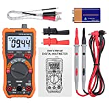 LiNKFOR 6000 Counts TRMS Auto/Manual Ranging Digital Multimeter with Alligator Clips/Support temperature measurement/AC Voltage Tester/Voltage Alert/Amp/Ohm/Volt Multi Tester/Diode with Backlight LCD Display