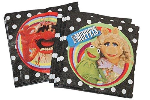 Unbekannt 20 Stk. Serviette - Muppets - Kermit Miss Piggy / die Muppet Show - Animal Geburtstag Kinderparty Kindergeburtstag - Partydeko Puppenspiel - Mädchen Jungen Erwachsene (Animal Muppets-party)