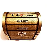 Coffre Bois, Petit Bois Coffre, Bijoutier personnalisée, Bijoutier Anneau Box, Wood Box, Boîte à Bijoux Personnels, Petit Boîte à Bois