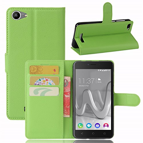 Wiko Lenny 3 Max Case,Defender Cover Case Replacement Premium PU Leather Wallet Case Replacement with Kickstand and Credit Card Slot Cash Holder Flip Cover for Wiko Lenny 3 Max Green