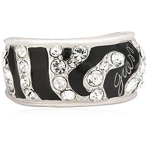 Guess Damen-Ring Metall Emaille Zirkonia weiß UBR71201