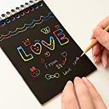 GOLD LEAF Latest 2018 Do It Yourself (DIY) Rainbow Art Scratch Paper Book Sheets with Stylus, 10 Pages (Pack of 6)