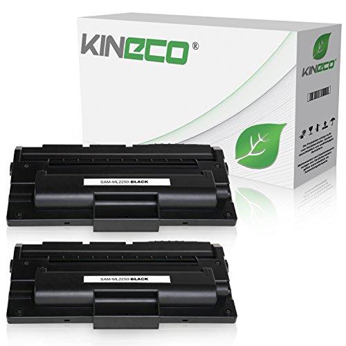 2 Toner kompatibel zu Samsung ML-2250 für Samsung ML-2251 NP NXAA, ML-2254, ML-2252W, ML-2250 G M - ML-2250D5/ELS - Schwarz je 6.000 Seiten (Np-kopierer-toner)