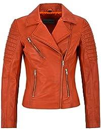 49c8348f54 Jessica ALBA Fashion Designer Ladies Leather Jacket Soft Biker Style 9334