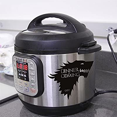Instant Pot stickers - Dinner is coming   Game of thrones - kitchen stickers - Cooker stickers