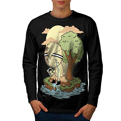 schrei-mich-ein-fluss-unterbrechung-teilt-herren-neu-schwarz-l-langarm-t-shirt-wellcoda