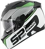 Shark Speed-R Sauer Max Vision Integralhelm, Farbe schwarz-weiss-grün, Größe XS (53/54)