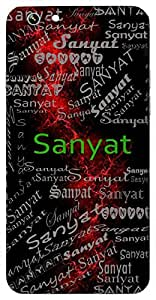 Sanyat (Following A King) Name & Sign Printed All over customize & Personalized!! Protective back cover for your Smart Phone : LETV 1S/ LeEco 1S