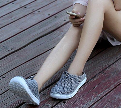 Grey Pantofole Giardino Traspirante 2 Youjia Luce Scarpe Unisex Chiuso Estive Punta Casuali Scarpe Spiaggia fgqOzHx
