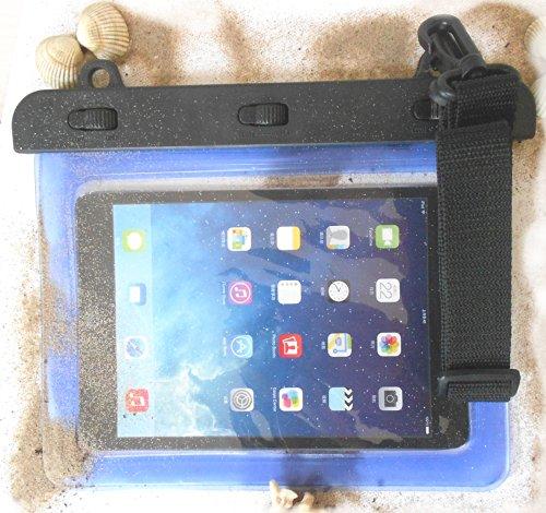 PRESKIN - Wasserfeste Taschen bis 8.0\'\' Zoll Display, Wasserdichte Tablet Schutzhülle (Beachbag8.0 Blue) / PC Hülle mit Touchscreen Funktion wie Schutzfolie/Displayfolie, Tablethülle Waterproof