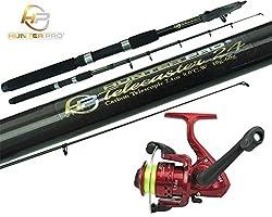 8ft Telescopic Carbon Fishing Rod & Reel Combo Travel Pike Stalking Fishing Kit