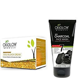 OXYGLOW GOLD BLEACH AND CHARCOAL FACE WASH