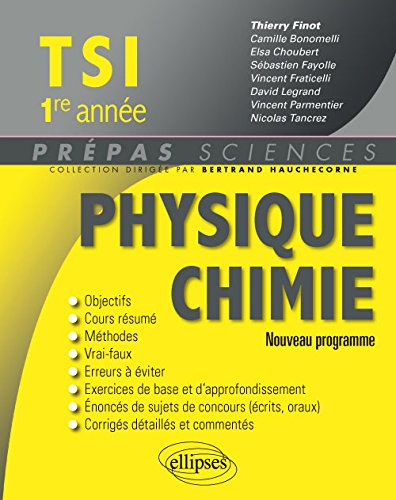 Physique Chimie TSI 1re Anne