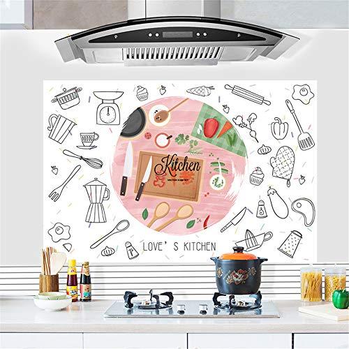 Hongrun Modeküche öl Aufkleber Aufkleber dunstabzugshaube hochtemperaturöfen AufkleberSelbstklebendewandaufkleberPersonalisierteSchrank Aufkleber 88 * 58 cm