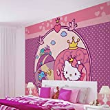 Hello Kitty - Forwall - Fototapete - Tapete - Fotomural - Mural Wandbild - (1813WM) - XXL - 312cm x 219cm - VLIES (EasyInstall) - 3 Pieces