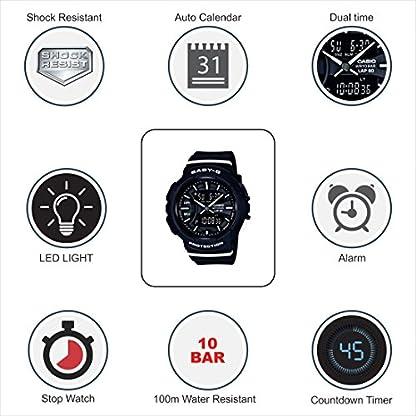 Casio Baby-g Analog-Digital Black Dial Women's Watch-BGA-240-1A1DR (B187)