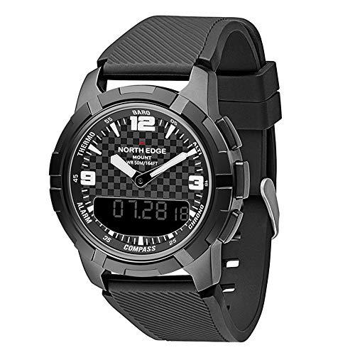 RENYAYA North Edge Reloj Deportivo, Relojes Inteligentes Reloj Impermeable 50m Pesca altímetro barómetro termómetro brújula Horas de altitud con retroiluminación LED/Alarma