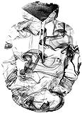 EUDOLAH Herren 3D Druck Sweatshirts Weihnachten mit Aufdruck Herbst Winter Hemd Langarm Top Jumper Shirt (Größe XXL / 3XL, Rauch)