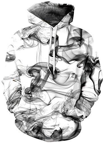 TDOLAH Herren Kapuzenpullover 3D Muster Spaß Karneval Weihnachten Halloween Sweatshirt (Größe L / XL, Abgas-7)