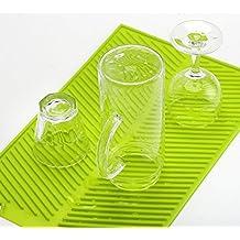 Escurreplatos de Silicona Múltiples Funciones, Salvamanteles Grande (43 x 33cm) Resistente al Calor, Manteles individuales Antideslizante, Escurridor antibacteriana